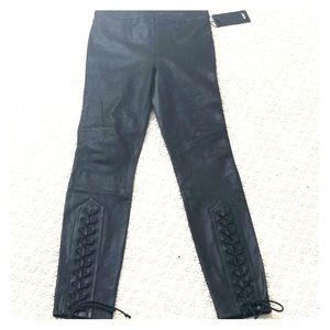 Hudson leather jeans